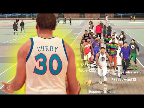 STEPHEN CURRY SPLASHING THREES AT THE PARK!? ft. KEVIN DURANT + DRAYMOND GREEN!