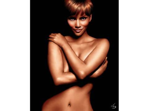 HALLE BERRY : Speed painting by Stephanie Valentin