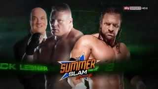 WWE SummerSlam 2012 Match Card / Triple H vs Brock Lesnar.