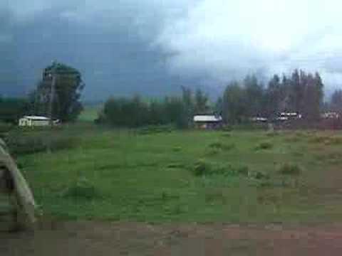 Ethiopia, driving through a village