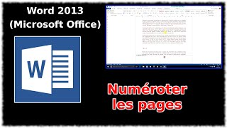 Tuto Word 2013 - Numéroter les pages