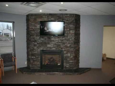 Ledgestone Fireplace Montage Rock You Black Pearl
