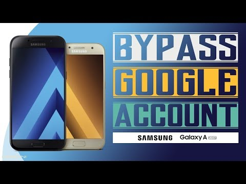 Bypass Google Account SAMSUNG GALAXY A 2017 Series, Without Computer  Android 8 0