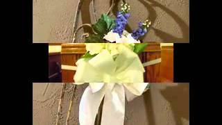 Pew bows for wedding decor ideas
