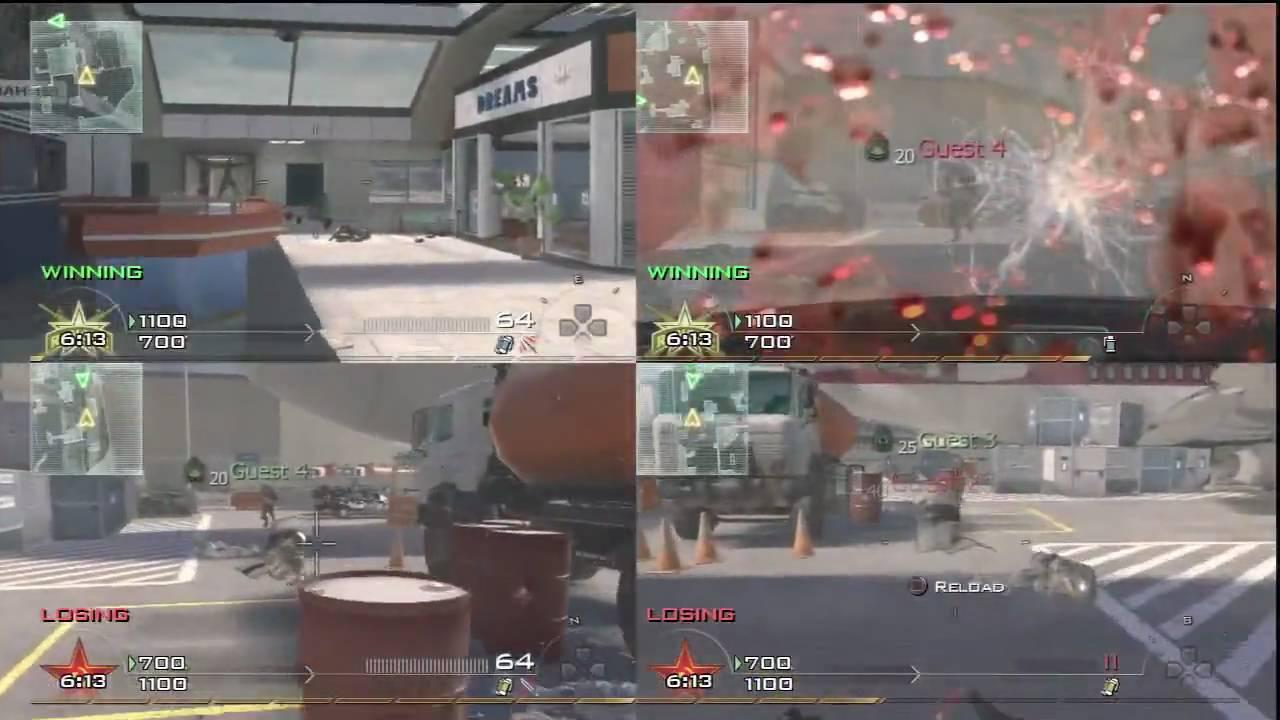 is advanced warfare 4 player split screen