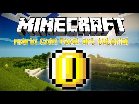 Minecraft Pixel Art Tutorial: Mario Gold Coin