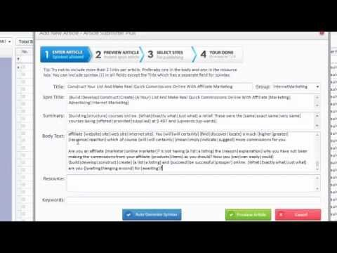 0 Article Submitter Plus [DEMO]   Best Article Submitter Software For Article Marketing
