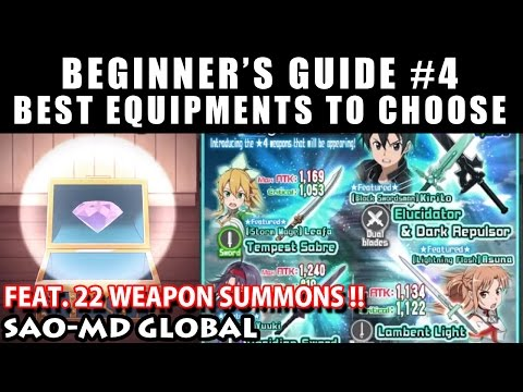Best Equipments To Choose & 22 Weapon Summons (SAO Memory Defrag Global) Beginner's Guide #4