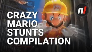24 Seriously Crazy Stunts in Super Mario Odyssey | #MarioMegaJump Compilation 2