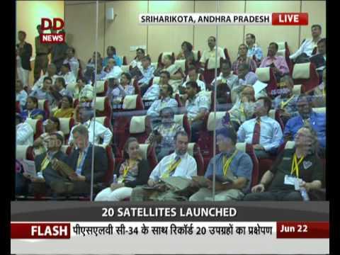ISRO successfully launches 20 Satellites