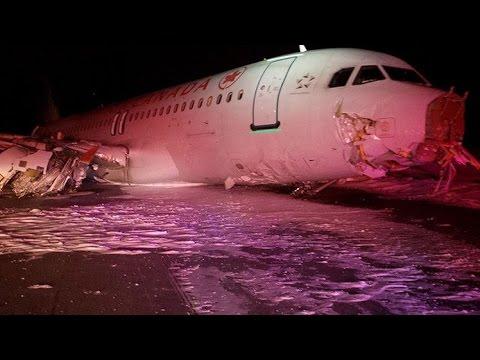 Un avión de Air Canada sufre un aterrizaje fallido en el aeropuerto de Halifax