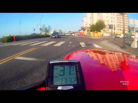Velomobile in Oslo II. Cycling to work -high speed 87 km/h