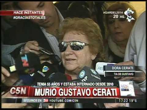 C5N - MURIO GUSTAVO CERATI:  HABLA SU TIA DORA