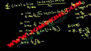 ক্যালকুলাস - অন্তরীকরণ (Differentiation) পাঠ ৭ : ln (x) এর অন্তরক সহগ
