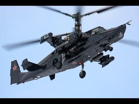 Ударный вертолет КА-50 ЧЁРНАЯ АКУЛА на боевом дежурстве в Чечне ☢ Россия