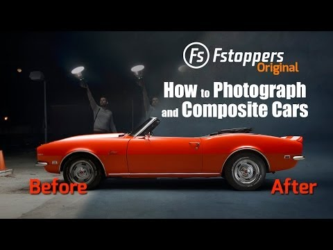 How to light paint a car and composite in Photoshop