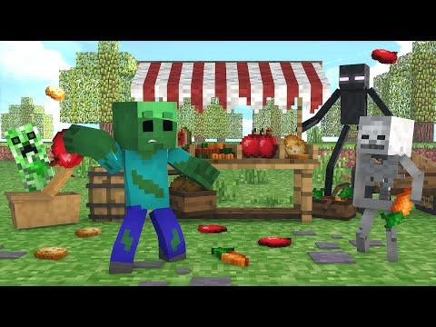 Minecraft : FESTIVAL DE COMIDA - Escola Monstro Férias #04   Monster School Minecraft