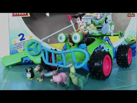 Disney Pixar Toy Story 3 Woody and Buzz LightYear Radio Controlled Car Toy - Kids' Toys