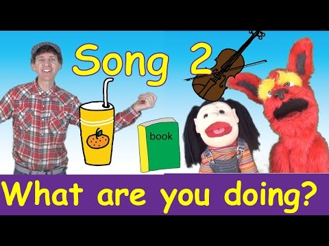 What Are You Doing? Song 2 | Action Verbs Set 2 | Learn English Kids