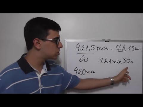 Como converter unidades de tempo | Horas, minutos e segundos