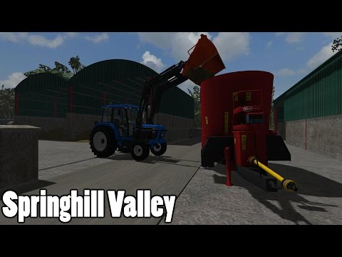 Farming Simulator 2013 - Springhill Valley - Ford 5640 Feeding The Cows