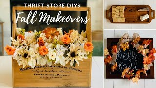 🤩Trash to Treasure DIY Fall Thrift Store Makeovers🤩