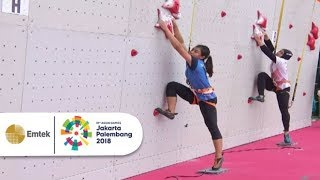 Highlight Panjat Tebing Women Speed Penyisihan | Asian Games 2018