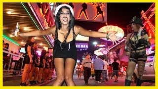 Тайланд Паттайя 2015  Волкин Стрит.  Walking Street Pattaya Thailand 2015