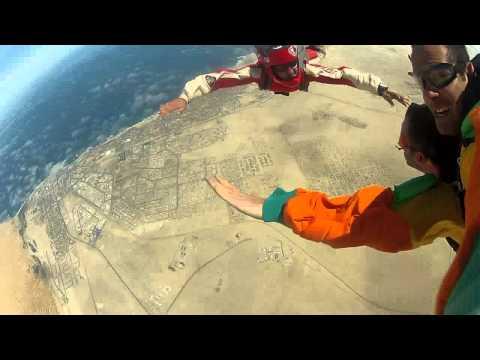 Skydiving in Swakopmund, Namibia
