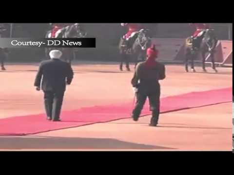 Ceremonial welcome to  President of Republic of Singapore