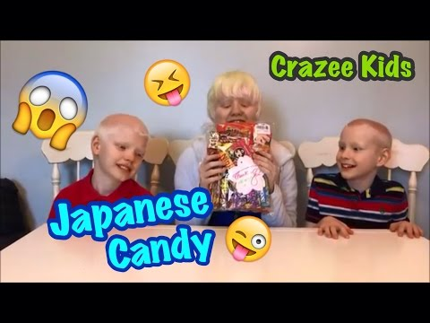 Crazee Kids try Japanese candy and snacks