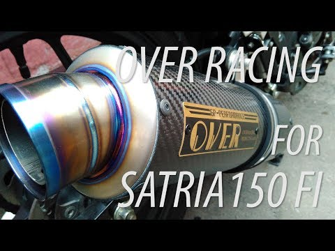 #RIDINGIMPRESSION SATRIA F150 FI OVER RACING EXHAUST | KNALPOT RAIDER | TEST RIDE | MOTOVLOG