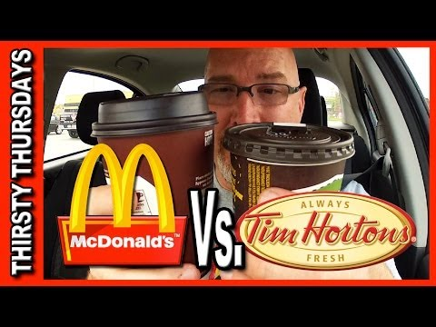 McDonald's Coffee ♥ Vs ♥ Tim Hortons Coffee Plus Drive Through Test
