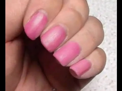 How To Turn Your Shellac / Regular Polish Nails Matte - YouTube