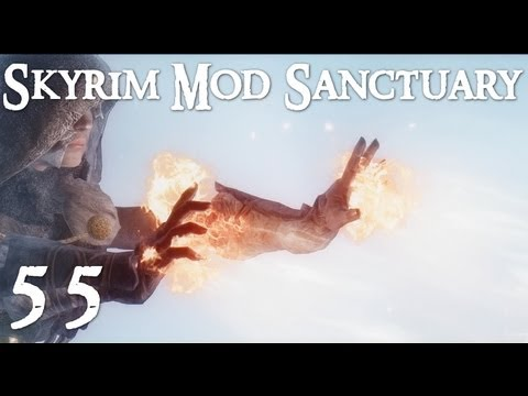 Skyrim Mod Sanctuary 55 : Black Overlord. aMidianBorn Helm of Yngol. Nightingale Prime HD