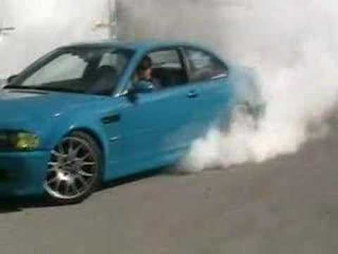 Rimier E46 BMW M3 Burnout Video
