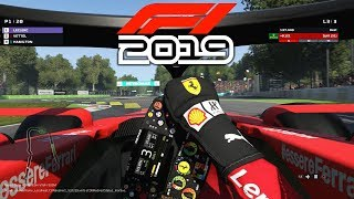 F1 2019 EXCLUSIVE Gameplay - Race in ITALY with Charles Leclerc (F1 2019 Game Ferrari)