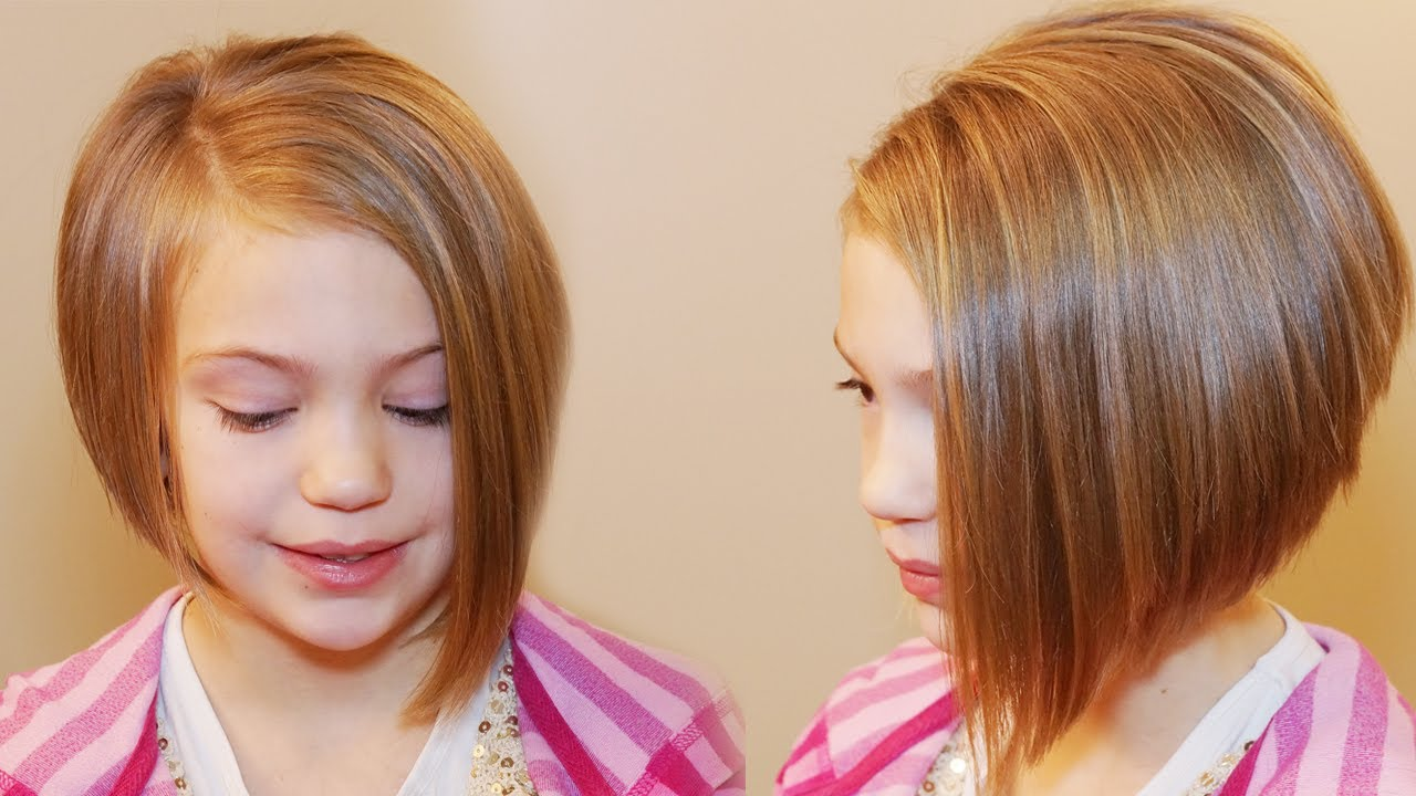 Hair Style For Little Girls: HOW TO CUT AN ASYMMETRICAL A-LINE // SHORT HAIRSTYLES
