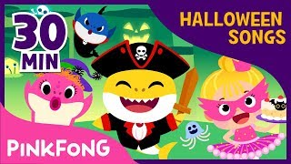 Pirate Baby Shark and more | Best Halloween Songs | +Compilation | Pinkfong Songs for Children