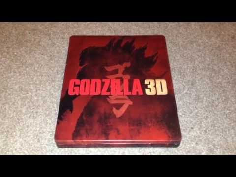 Godzilla 3D UK Blu-Ray steelbook unboxing (HMV exclusive)