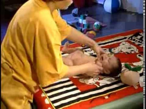 Видео как делать массаж ребенку