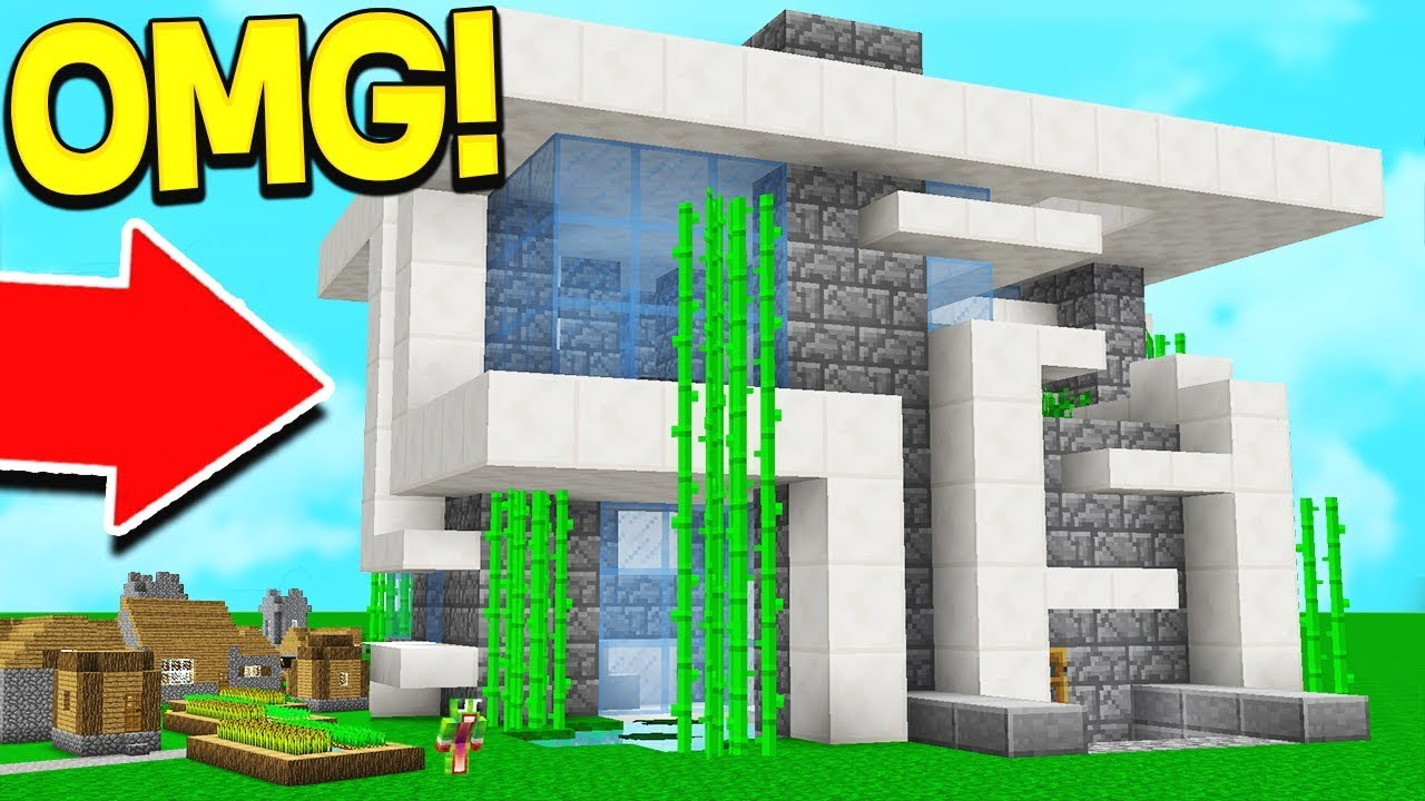 $1 DIRT HOUSE vs $100,000 WORLD'S BIGGEST HOUSE! Minecraft Dirt House Designs Html on