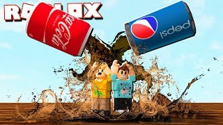 Roblox Adventures - COCA COLA & PEPSI FLOOD! (Coke vs Pepsi War)