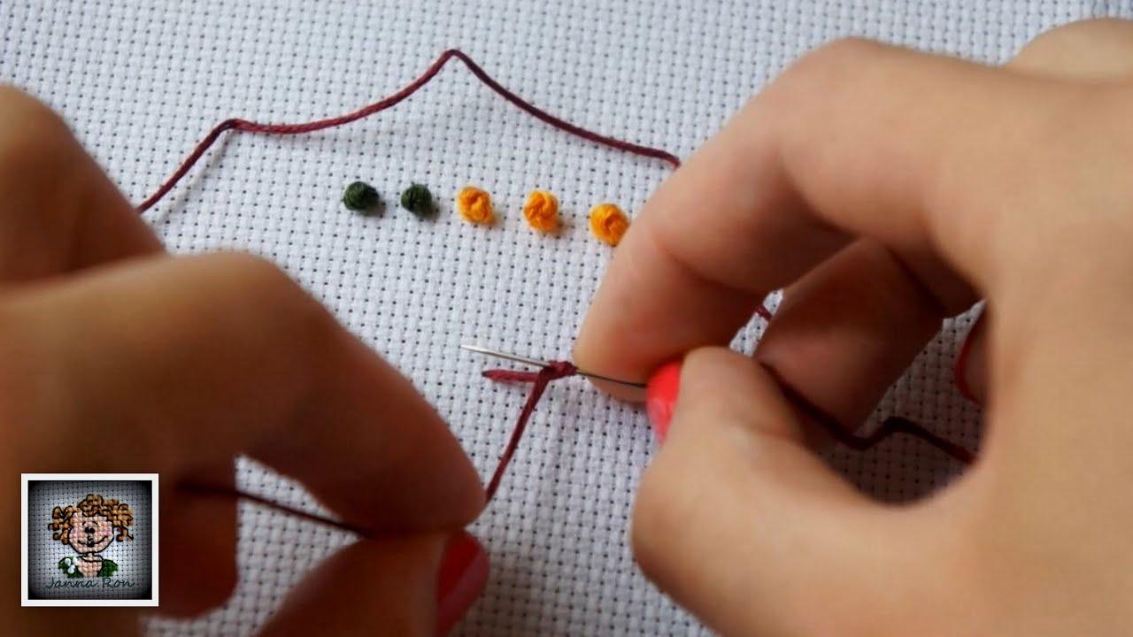 Как делать французский крест в вышивке 34