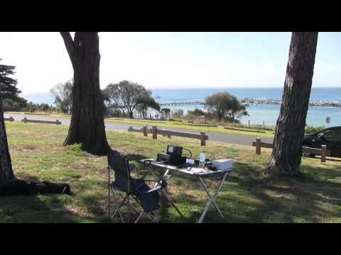 VK3VCM Operating Portable HF Amateur Radio from Portarlington, Australia 3/1/11