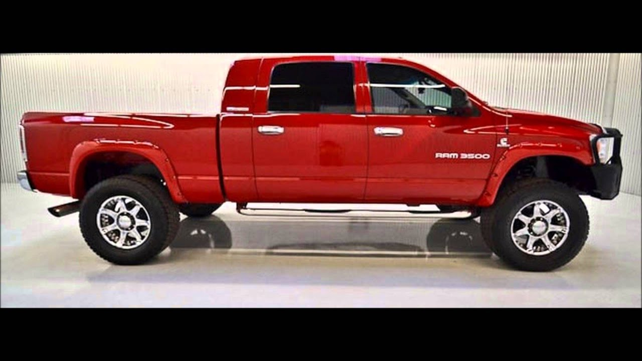 2006 dodge ram 3500 mega cab diesel slt lifted truck for sale youtube. Black Bedroom Furniture Sets. Home Design Ideas