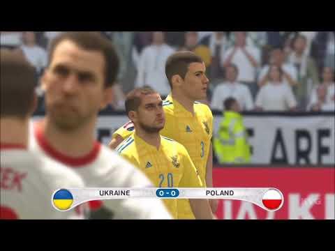 PES 2016 - UEFA Euro 2016 - Ukraine vs Poland   Gameplay (HD) [1080p60FPS]
