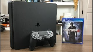 PlayStation 4 Slim 500GB con Uncharted 4 Unboxing