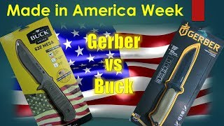 Made in America Week - Gerber Prodigy vs Buck Mesa - Part 1