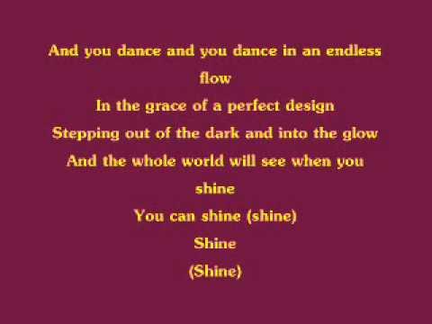Lyrics containing the term: shine
